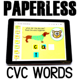 Google Classroom™ Activities Reading CVC words (dogs)