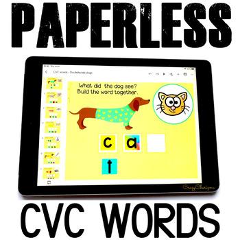 Google Classroom™ Activities Reading CVC words (dogs)