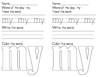 CVC words I, see, my, name