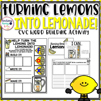 CVC words - Lemonade Themed