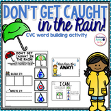 CVC words - Rain Themed