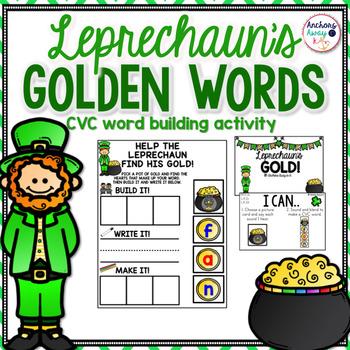 CVC words - St. Patrick's Day Themed
