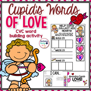 CVC words - Valentine's Day Themed