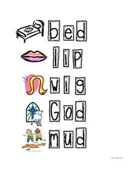 CVC words and pictures