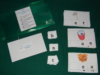 CVC words beginning sounds 2nd Version Literacy Center- Hard Good