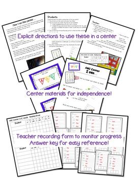 Short Vowels Kindergarten CVC Short Vowel Center