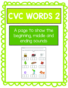 CVC words Worksheets, Volume 2 with Elconian boxes