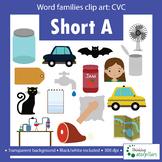 CVC words short A Clip art