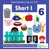 CVC words short I Clip art