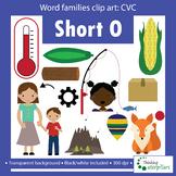 CVC words short O Clip art