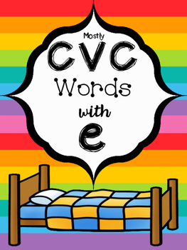 CVC words with /e/ Lesson Plans and Activities - Common Core Orton-Gillingham