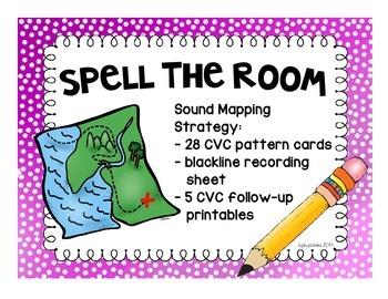 CVC work: spell the room plus printables