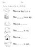 CVC worksheets bundle (beginning, middle and ending sounds practice)