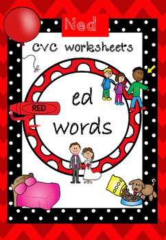 CVC worksheets ed words