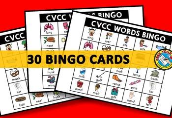 CVCC ACTIVITIES: CVCC WORDS BINGO GAME FOR WHOLE CLASS: CVCC GAMES: WORD WORK