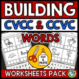 CVCC AND CCVC WORKSHEETS CUT AND PASTE (WORD WORK ACTIVITIES KINDERGARTEN)