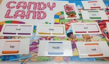 CVCC CCVC and Consonant e Candyland Labels = INSTANT GAME