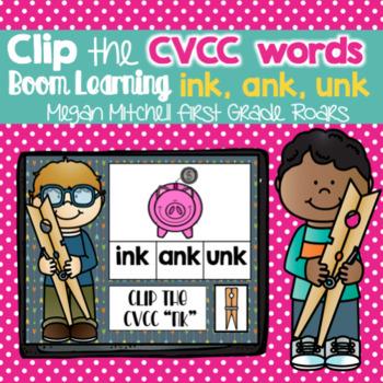 CVCC Clip Game Mini BUNDLE DIGITAL Task BOOM CARDS