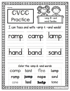 CVCC Word Work Activity Packet-NO PREP
