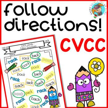 CVCC: Follow Directions (NO PREP)