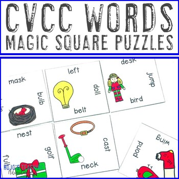 CVCC Words Literacy Center Game | CVCC Games | CVCC Activities