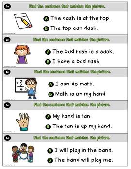 CVCC Sentences for Reading Comprehension