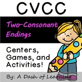 CVCC / Two Consonant Ending Centers, Games, and Activities