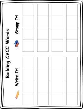 CVCC Word Building Task Cards Activity