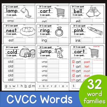 CVCC Word Families Worksheets