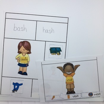 CVCC Word Families for Short Vowels with Rhyming Dust Bunnies