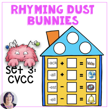 CVCC Word Families for Short Vowels with Rhyming Dust Bunnies Speech Language