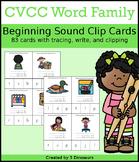 CVCC Word Family Beginning Sound Clip Cards