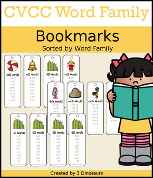 CVCC Word Family Bookmarks