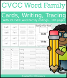 CVCC Word Family Cards & Writing