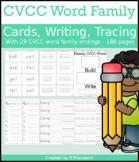 CVCC Word Family Cards & Writing