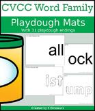 CVCC Word Family Playdough Mats