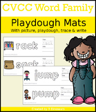 CVCC Word Family Playdough Mats with Pictures