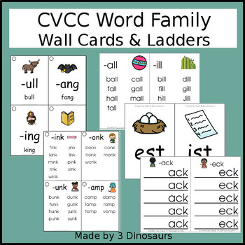 CVCC Word Family Wall Cards & Ladders