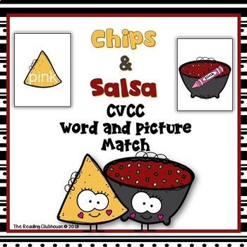 CVCC Word & Picture Match Activity - Chips & Salsa