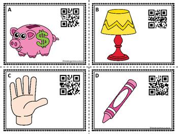 CVCC Words QR Code Task Cards #1