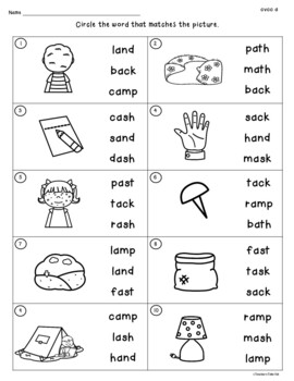 CVCC Worksheets to Identify, Read, Write, and Rhyme