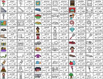 CVCC and CCVC Word Blending Puzzles