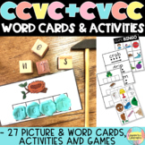 CVCC and CCVC Word Cards, Bingo, Phoneme frames and Literacy activities