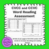 Fluency: CVCC and CCVC Word Reading Assessment