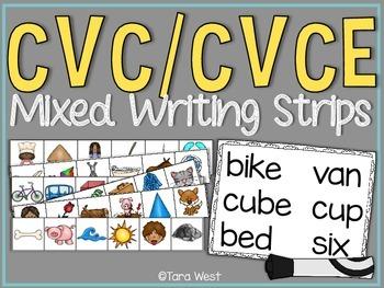 CVC/CVCe Mixed Writing Strips