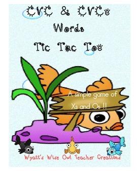 CVC/CVCe Words Tic Tac Toe