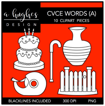 CVCE A Words Clipart {A Hughes Design}