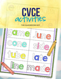 CVCE, Magic E, Silent E Activities, 1st or 2nd Grade Phonics