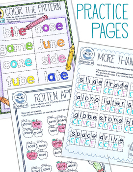 CVCE, Magic E, Silent E Activities, 1st or 2nd Grade Phonics