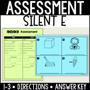 CVCE/Silent E Vowel Assessment